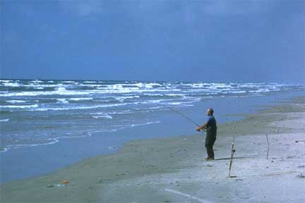 Padre Island surf fishing heal psoriasis