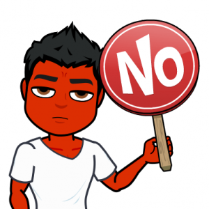 say no to drugs to treat psoriasis bitmoji