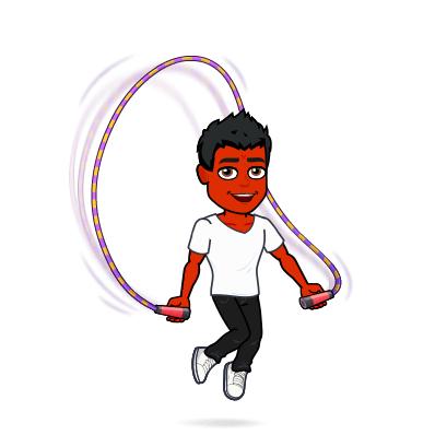 cure psoriasi bitmoji jump rope