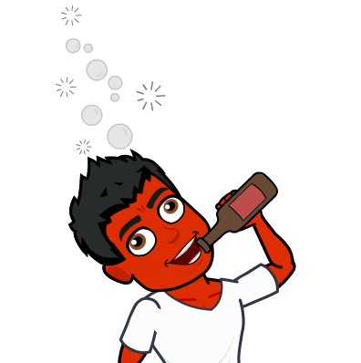 drinking-wont-treat-psoriasis-bitmoji