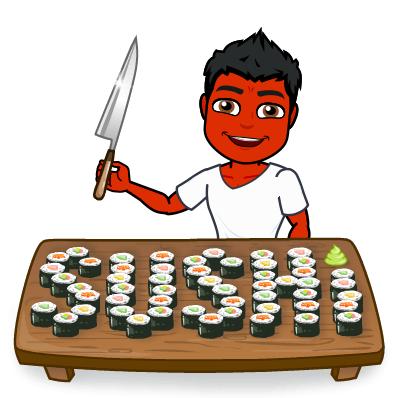 sushi does not treat psoriasis bitmoji
