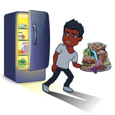 binge eating unhealthy food does not treat psoriasis bitmoji